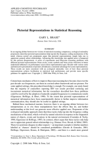 Pictorial representations in statistical reasoning