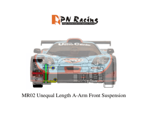 MR02 Unequal Length A-Arm Front Suspension