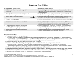 Functional Goal Writing