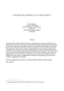 This empirical paper investigates whether agglomeration economies
