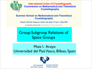 Group-Subgroup Relations of Space Groups