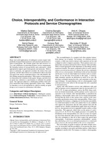 Choice, Interoperability, and Conformance in Interaction Protocols
