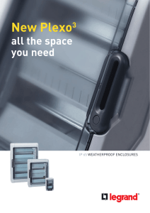 Plexo weatherproof enclosures