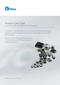 Product Line Card - iC-Haus