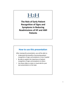 The Role of Early Patient Recognition of Signs and Symptoms in
