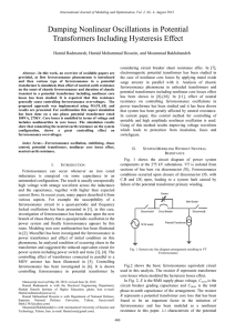 Damping Nonlinear Oscillations in Potential Transformers Including
