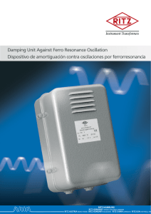 Damping Unit Against Ferro Resonance Oscillation Dispositivo de