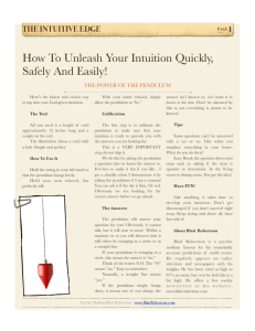 How To Unleash Your Intuition Quickly, Safely And Easily!