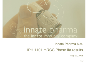 IPH 1101 mRCC Phase IIa results