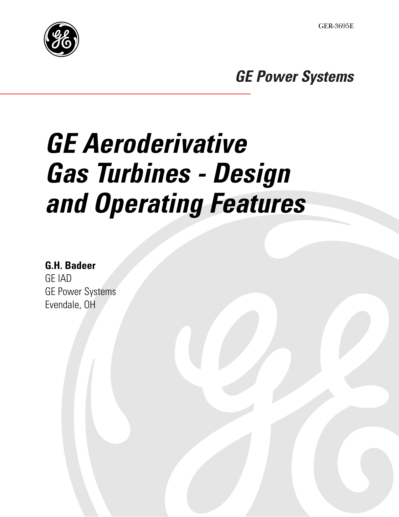 GER-3695E - GE Aeroderivative Gas Turbines: Design