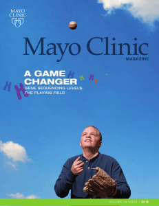 Mayo Clinic Magazine - Vol. 29, No. 1, 2015, Issue 1 - MC2386-2901