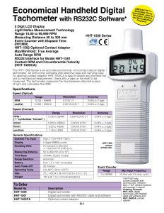 Economical Handheld Digital Tachometer
