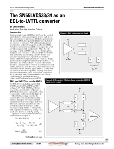 ECL to LVDS