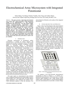 Electrochemical Array Microsystem with Integrated Potentiostat