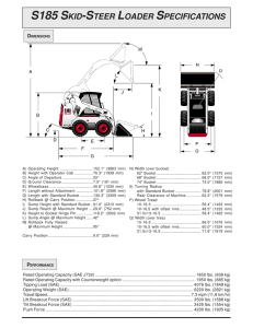 t190 compact track loader specifications