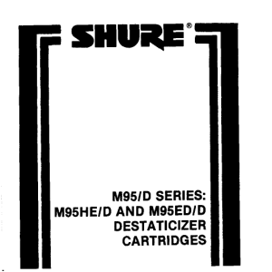 Shure M95ED/D User Guide