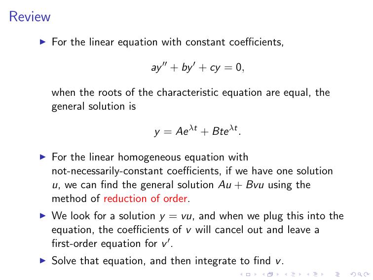 Solving a non-homogeneous equation