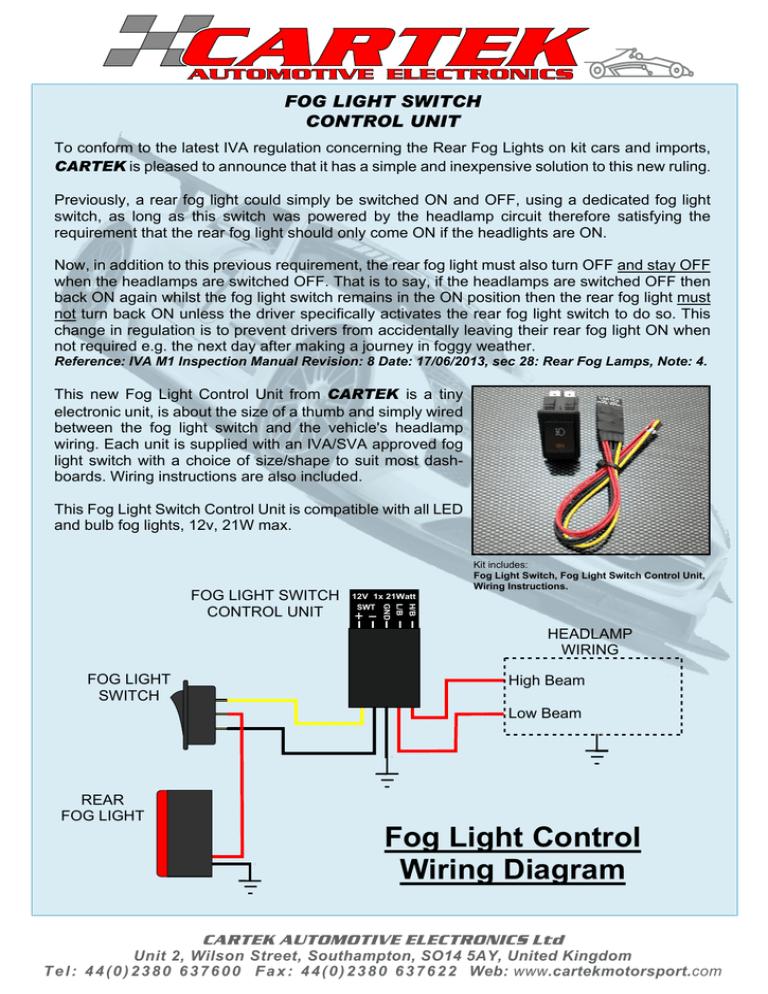 Fog Light Control Wiring Diagram