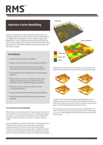 RMS Indicator Facies Modelling Data Sheet 2014