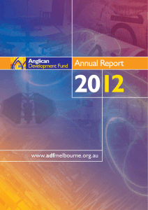 ADF Annual Report 2012 - Anglican Diocese of Melbourne