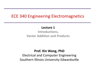 Lecture 1 - Southern Illinois University Edwardsville