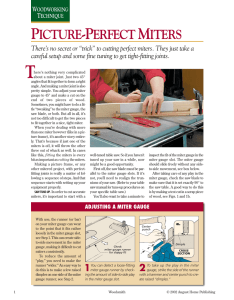 Picture-Perfect Miters