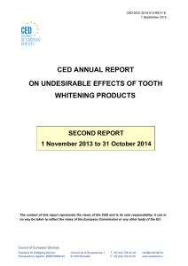 second report on undesirable effects caused by tooth whitening
