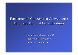 Fundamental Concepts of Convection : Flow and Thermal