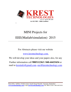 MINI Projects for EEE(Matlab/simulation) 2015