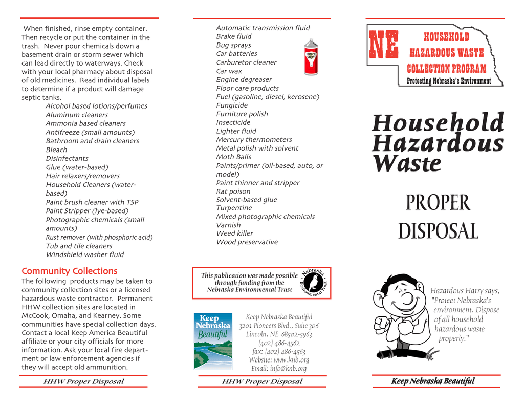 HHW-Proper Disposal