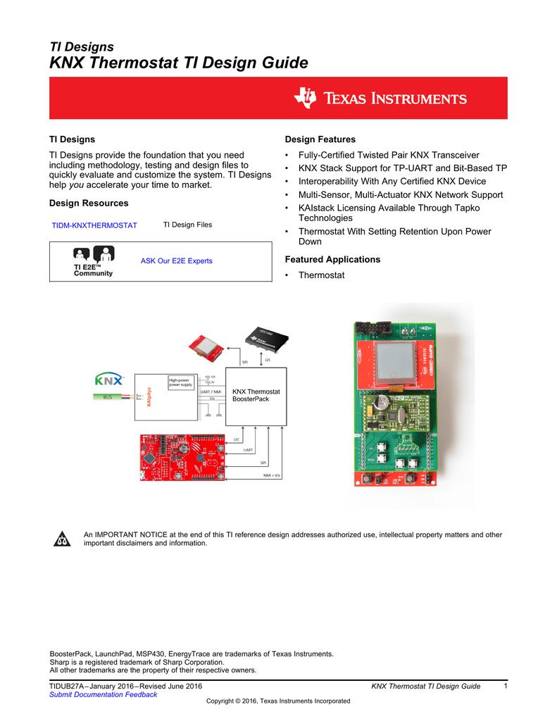 KNX Thermostat TI Design Guide (Rev  A)