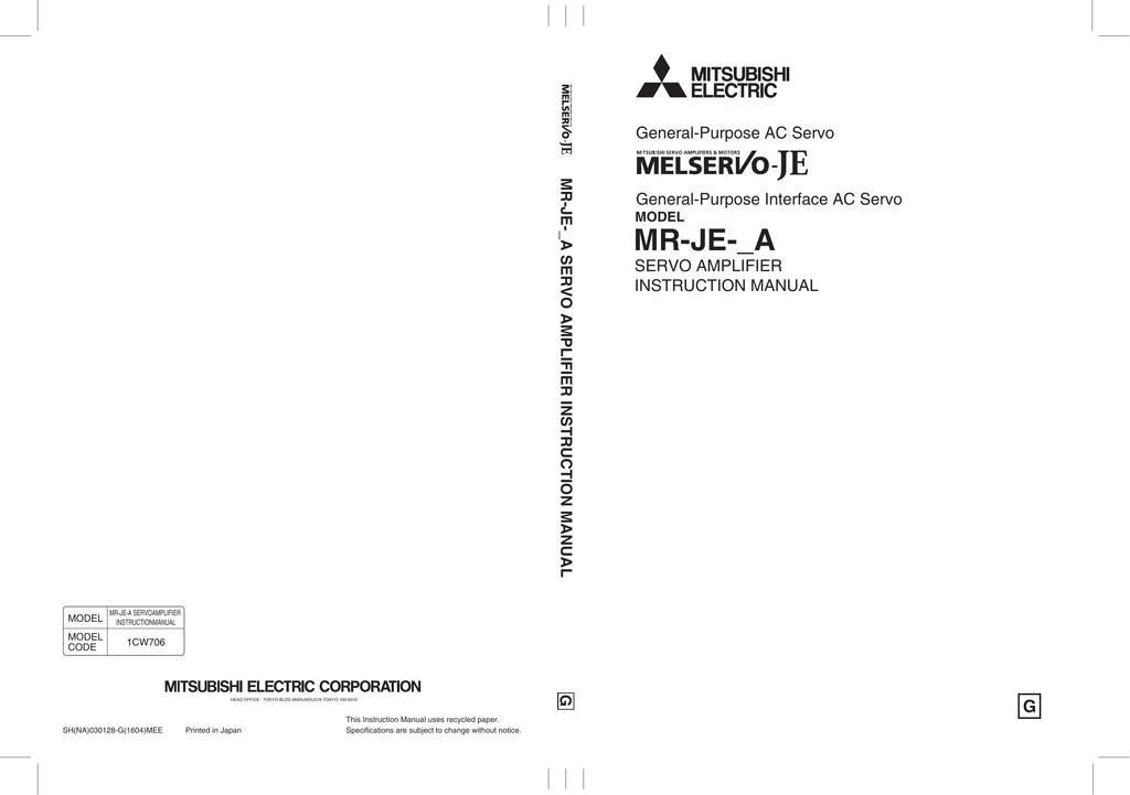 mr-je-_a servo amplifier instruction manual