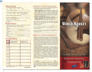 World Market Application