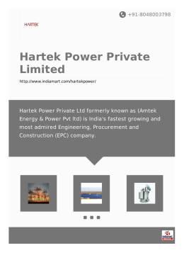 Hartek Power Private Limited