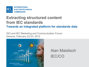Extracting structured content from IEC standards (Normative