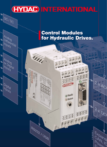 Control Modules for Hydraulic Drives.