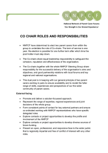 co chair roles and responsibilities