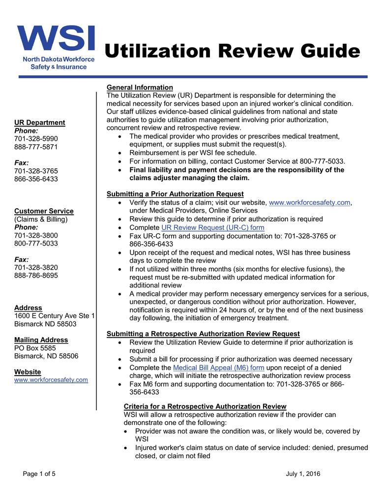 Utilization Review Guide