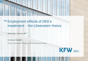 Employment effects of DEG`s investment