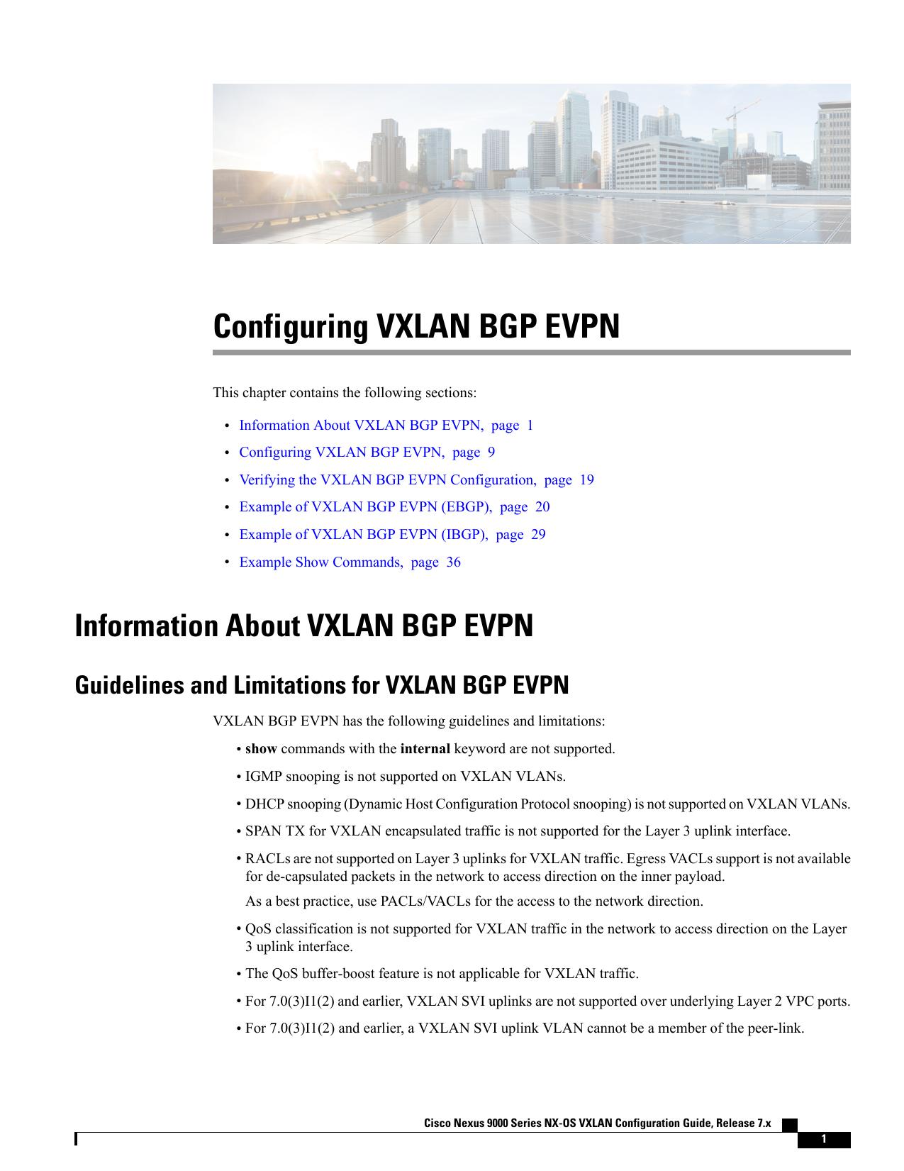 Configuring VXLAN BGP EVPN