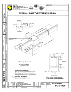 SQ-9-1498 Special Slot Type Trench Drain