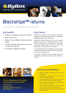 Blackstripe™ returns