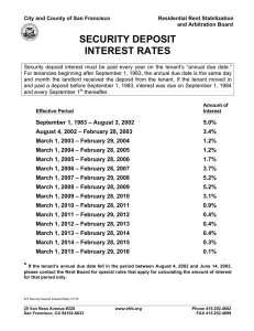 security deposit interest rates
