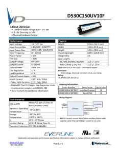 D530C150UV10F - Universal Lighting Technologies