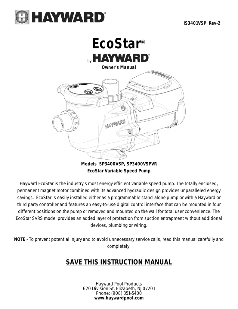 Ecostar Manual Hayward Pool Pump Wiring Diagram Besides Gas Valve In