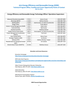 2015 Energy Efficiency and Renewable Energy (EERE)