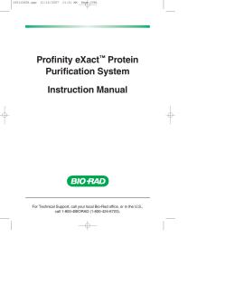 Profinity eXact Protein Purification System Manual - Bio-Rad