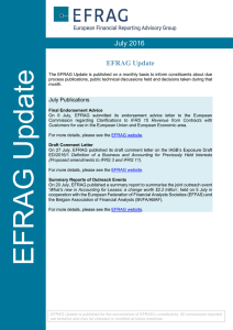 July 2016 EFRAG Update