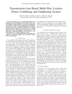 Transmission-Line-Based Multi-Way Lossless Power Combining and