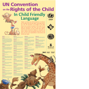 UN Convention Rights of the Child In Child Friendly Language